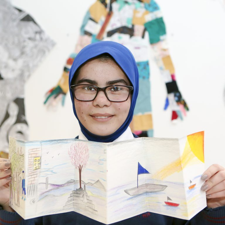 Zohra Koohestani, Nano Nagle, Presentation NS displays her dream art work to be an accountant and sailor